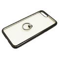 iPhone8Plus/7Plus用ジャケット リング付き ラインストーン
